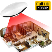 SDETER 1080P Full HD Wireless IP Camera Wifi 2MP 360 Degree Fisheye Panoramic Home Security Camera