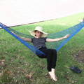 Hot selling multicolor outdoor camping  mesh hammock student dormitory bedroom swing mesh hammock