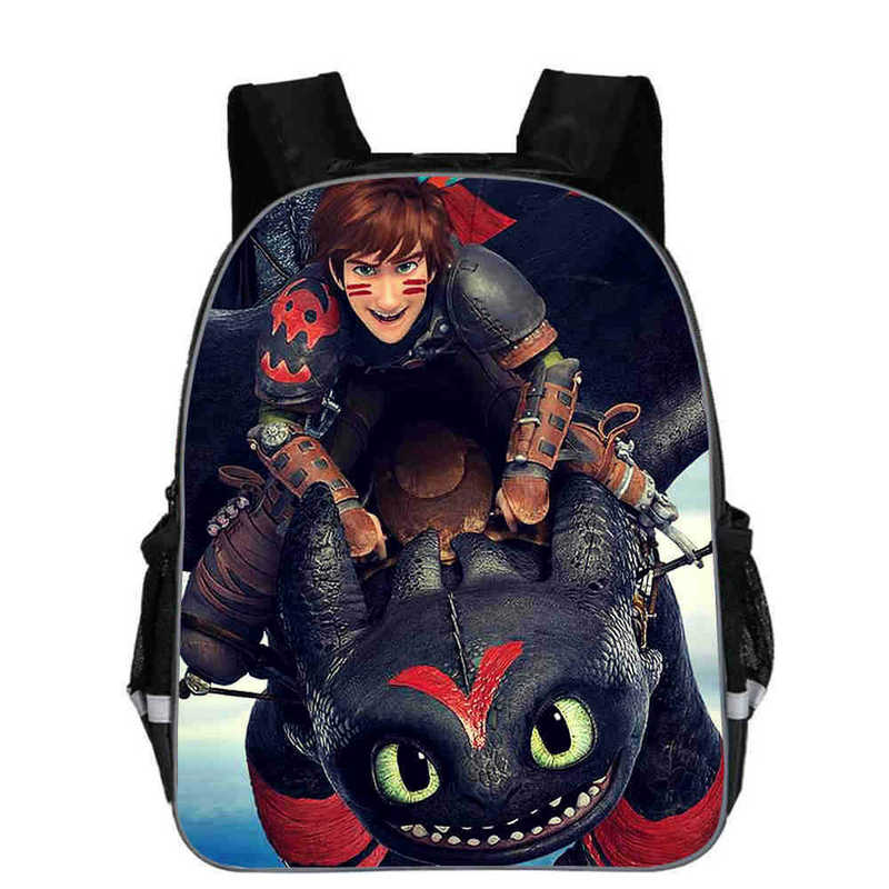 13 Inch How To Train Your Dragon Kindergarten Infantile Small School Bags Bookbags Children Baby Toddler Bag Kids Backpack