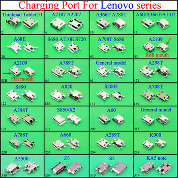 YuXi micro USB Charging Dock Port Connector jack socket For Lenovo A708T A798T S850 X2 A60 A788T A660 A289T Charger Dock Port image