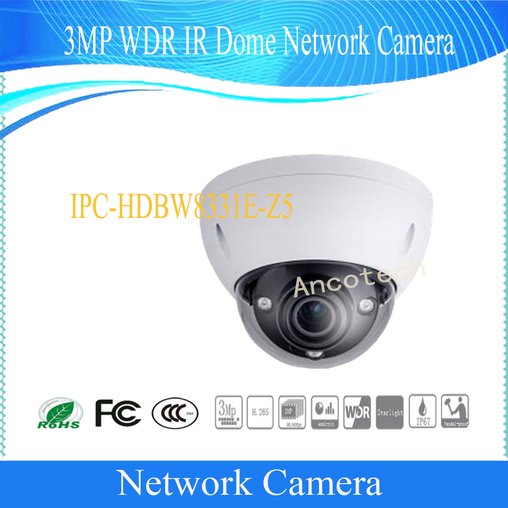 Free Shipping DAHUA 3MP WDR IR Dome Network Camera IP67 IK10 With PoE without Logo IPC-HDBW8331E-Z5 free shipping dahua cctv security ip camera 3mp wdr ir bullet network camera ip67 ik10 with poe without logo ipc hfw8331e z5