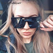 LongKeeper Male Flat Top Sunglasses Men Brand