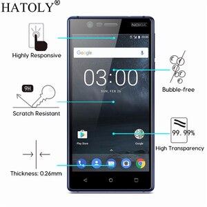 Image 2 - 1 adet temperli cam Nokia 3 için ekran koruyucu Nokia 3 için tam kapak Nokia 3 TA 1020 TA 1032 3D kavisli kenar filmi HATOLY
