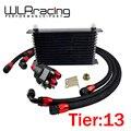 WLR RACING Universal 13 Row 10AN Aluminium Motor Getriebe Ölkühler Relocation Kit-in Ölkühler aus Kraftfahrzeuge und Motorräder bei
