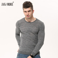 JACK CORDEE 2017 Autumn Winter Base Layer Sweaters Men Solid Slim Pullover Thin Knitted Sweater O