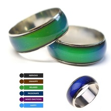 Changing Color Rings Stainless Ring Mood Emotion Feeling Temperature Rings For Women Men Couples Rings Tone Fine Jewelry LXH cheap luxfacigoo Other Unisex Metal Vintage Wedding Bands ROUND All Compatible Mood Ring None Fashion Anniversary 16mm 17mm 18mm 19mm 20mm