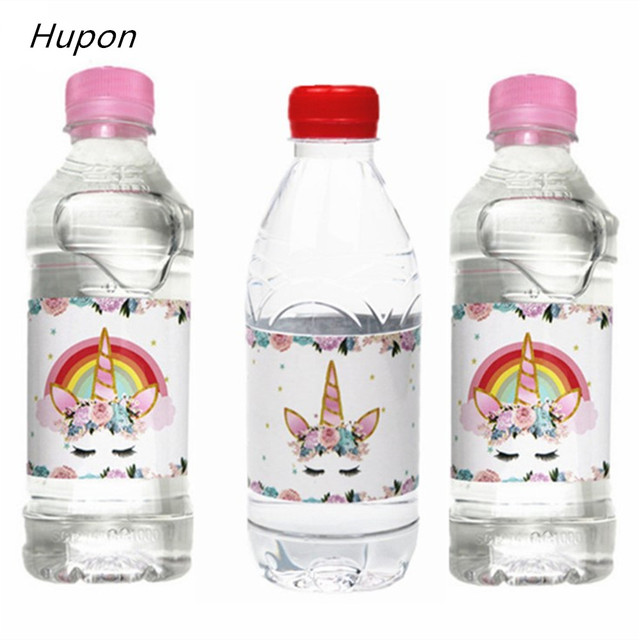 Us 1 67 21 Off 24pcs Magical Unicorn Bottle Stickers Label Happy Birthday Party Decorations For Kids Boy Babyshower Unicorn Party Supplies In Party