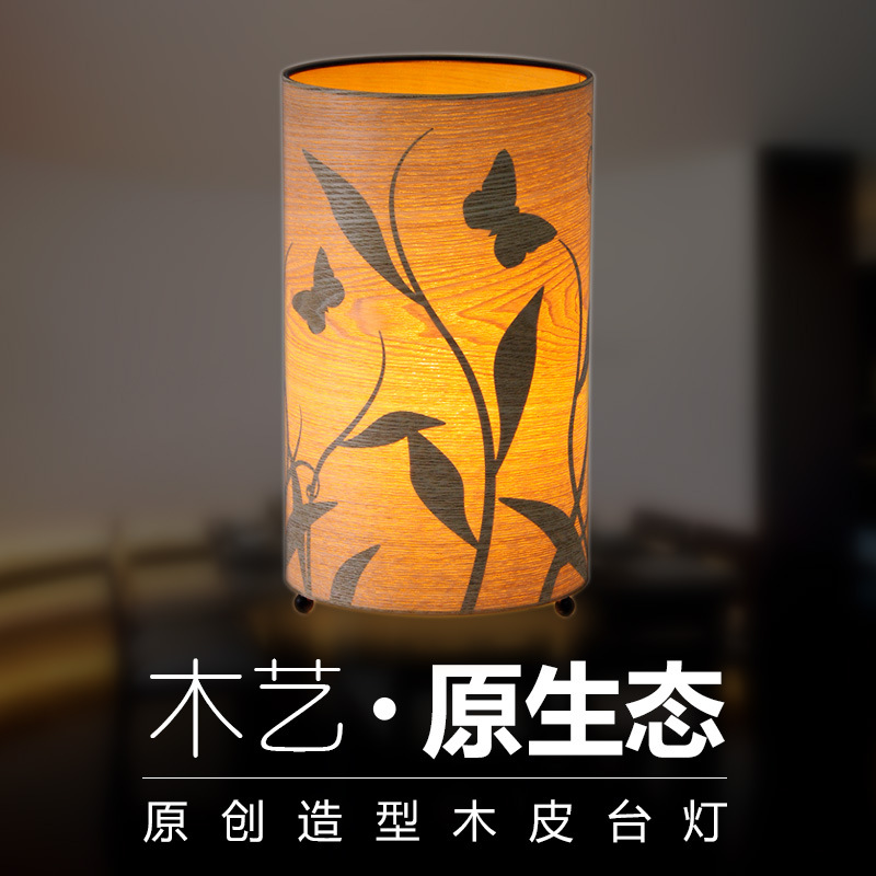 a bed lamp Antique wood veneer silhouette lamp Warm warm light lamp Engineering decoration wholesale teahouse desk lampa bed lamp Antique wood veneer silhouette lamp Warm warm light lamp Engineering decoration wholesale teahouse desk lamp