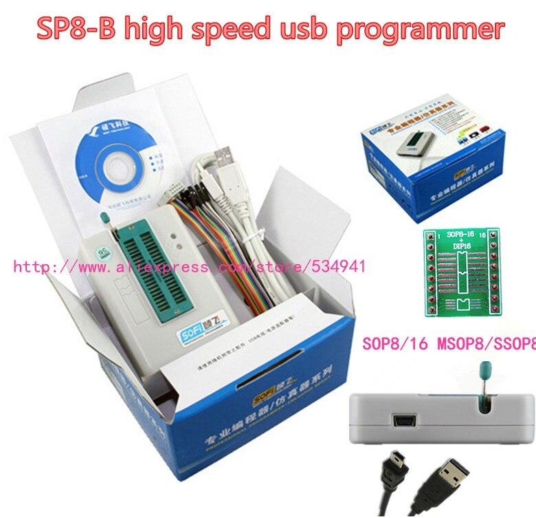 Sofi SP8 B programmer high speed usb programmer 93 24 25 BR90 flash eeprom over 5000