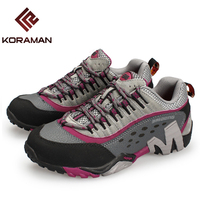 KORAMAN Outdoor Hiking Shoes For Women Brand Breathable Quick Dry Sneakers Women Hiking Camping Boots Professional