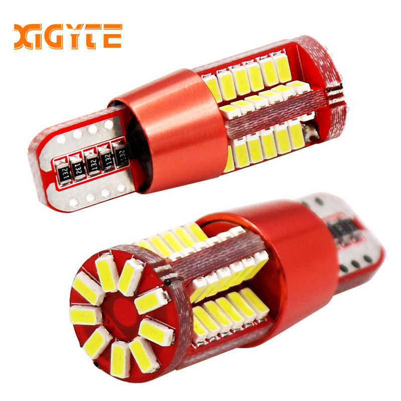 2pcs T10 led 168 192 2825 w5w super bright 57 SMD 3014 LED CANBUS NO Error Auto Wedge marker Light bulb Car Clearance lamp 12V
