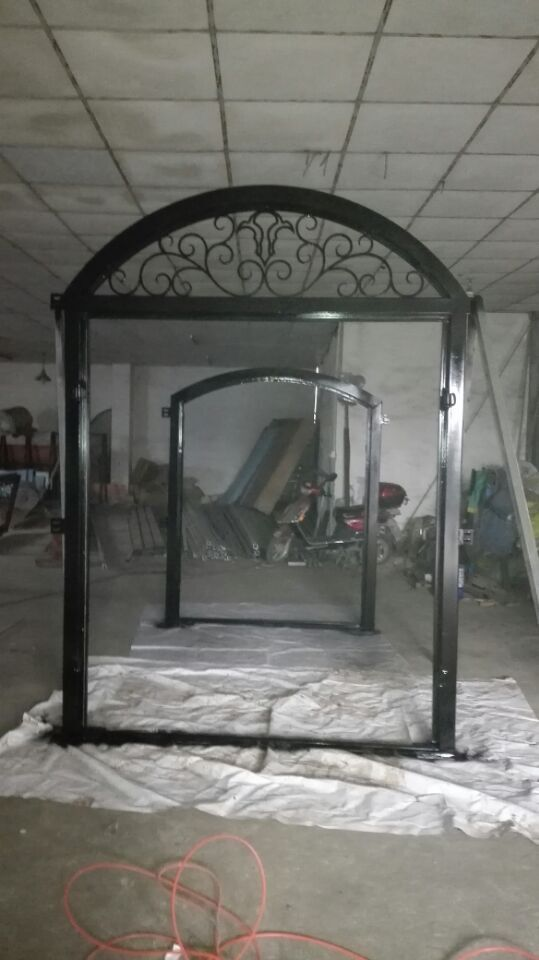 Shanghai China factory producing wrought Iron doors high quality export to U.S ,model hench ad35