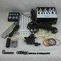 Kit completo Tattoo Set Tattoo Machine Gun Power Supply Apretón de La Aguja Consejo Combo Kit Set Supply TKS116 #