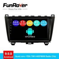 FUNROVER android 9,0 2 din автомобильный dvd для Mazda 6 2008 2009 2014 2015 радио gps навигационная система, стереомагнитола мультимедиа DSP 2.5D