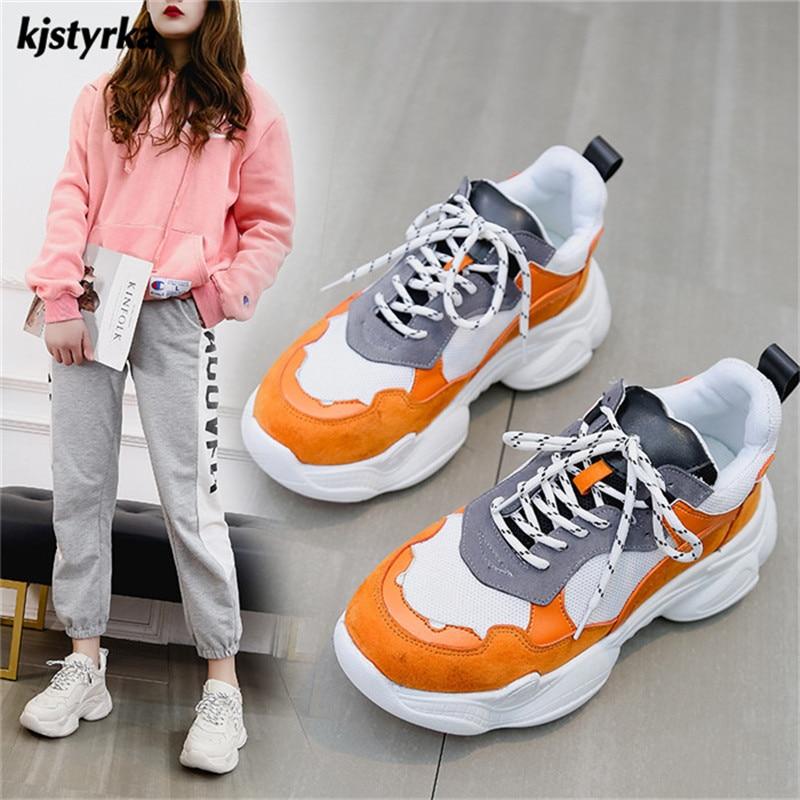Kjstyrka 2018 Zapatillas Mujer fashion women Sneakers star increasing comfortable ladies walking shoes sapato feminino
