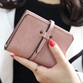 Women Vintage Matte Short Wallet Fashion Female Small Luxury Purse Ladies Leather Change Wallet Carteras Mujer Femenina