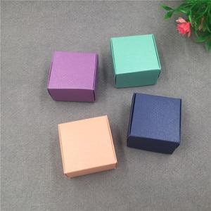 Image 3 - 50 개/몫 작은 크 래 프 트 골 판지 포장 선물 상자 미니 사랑스러운 Aircaft 종이 상자 수 제 비누 포장 상자
