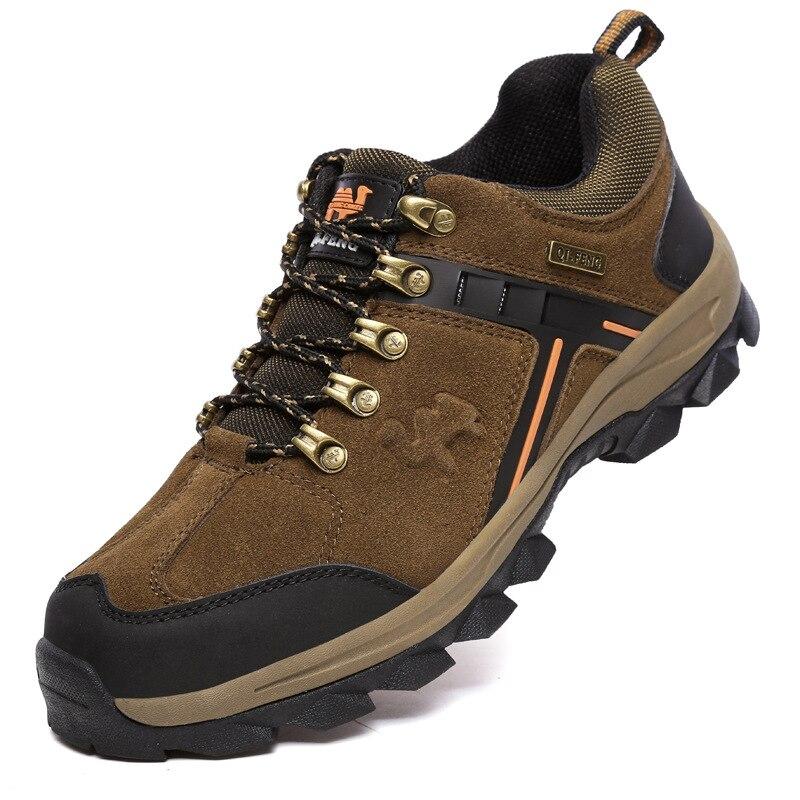 BACKCAMEL2019 printemps nouveau cuir chaussures de plein air chaussures de randonnée en cuir pleine semelle en caoutchouc chaussures pour hommes troupeau bout rond SIZE39-44