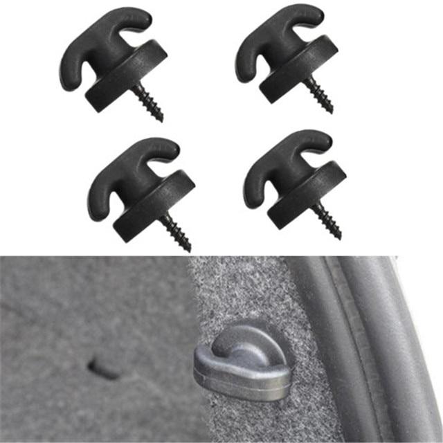 4Pcs Universal Car Styling Rear Trunk Net Tie Down Hooks Ring Loop Hanging Accessories Fastener Clip For VW Honda Toyota BMW Kia