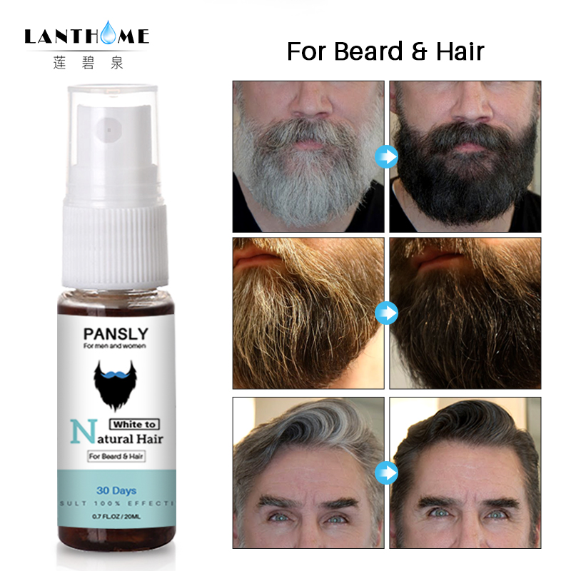 US $4.04 40% OFF|Organic Beard Oil Men Mustache Black Gray Beard Dye Spray  Fast Color Growth Essence Serum Beard Wax Facial Hair Grow Confidence-in ...