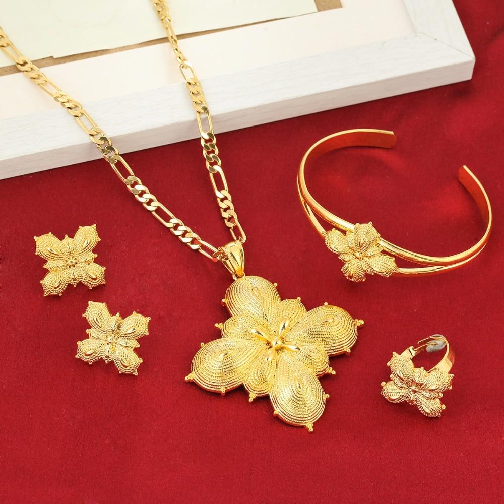 New Arrival Ethiopian Sets Jewelry Ethnic Bridal Wedding Women Jewelry Set