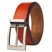 2018 Big size 135 140cm extension men's full leather belt men's needle buckle pure cowhide 3.8cm wide brown For big and tall men