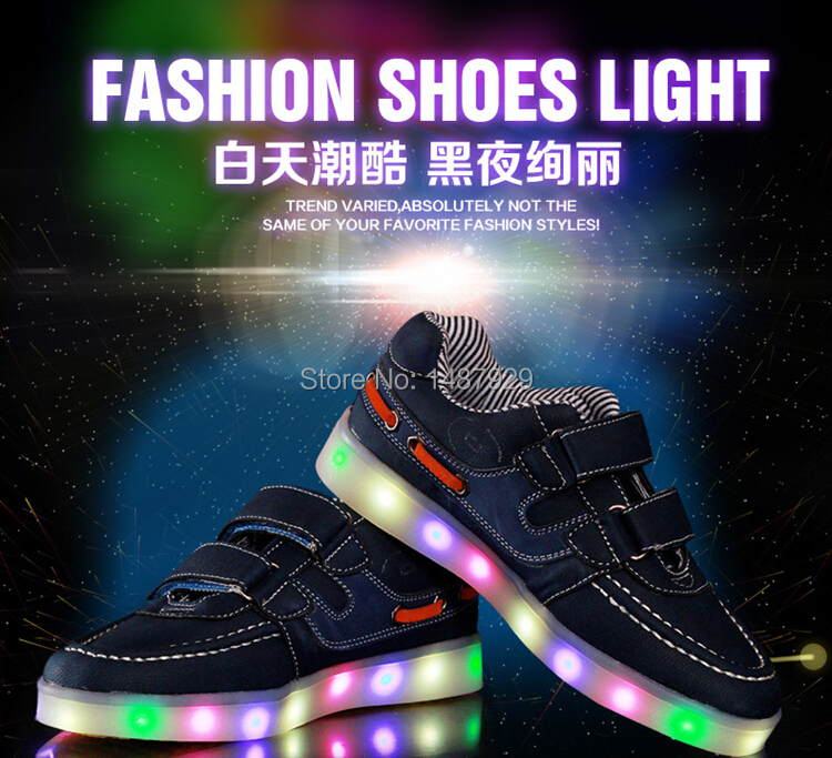 LED kids run shoes,free giving replace battery light