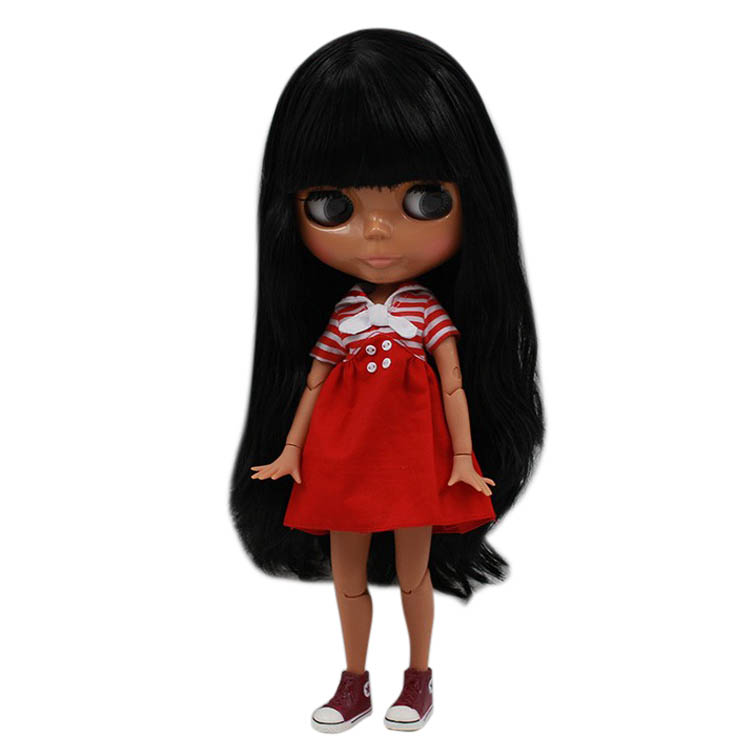 Blyth 1/6 Doll Joint Body Long Hair With Bangs Black 4 Colors For Eyes Suitable For Diy No 230bl117 Free Shipping Let Our Commodities Go To The World Toys & Hobbies