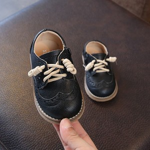 Image 4 - 2019Spring New Genuine Leather Childrens Shoes For Boys Girls Lace Up Flat Casual Shoes Breathable Non slip Baby Toddler Shoes