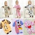 Frete Grátis! 2017 china roupas de bebê infantil primavera autunm algodão lote bebê dos desenhos animados macacões catsuit, nomes do bebê recém-nascido