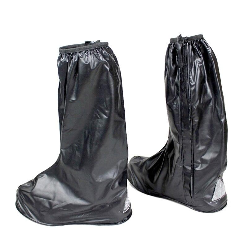 Marque Noir Moto botte de pluie tirette Réfléchissante Avertissement 100% Imperméable Vêtements de Pluie shose Chaussures Couverture