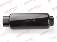 AN 12 AN12 Black Anodised Billet Magnetic High Flow Fuel Filter 100 Micron