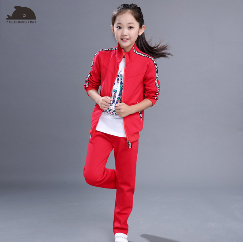 kids clothes 2018 girls clothing sets 4-15 girl outfits 2 pcs sport sets toddler girls summer clothing set trainingspak kids 2018 little girls 2 pieces tutu skirt clothing sets summer cartoon cute cat toddler girl short tops lace skirts kids outfits