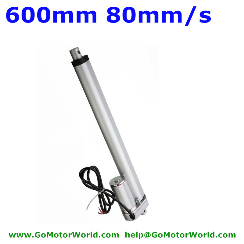 Best heavy duty Linear Actuator 12V 24V 600mm Stroke  1500N load 80mm/s speed actuator linear