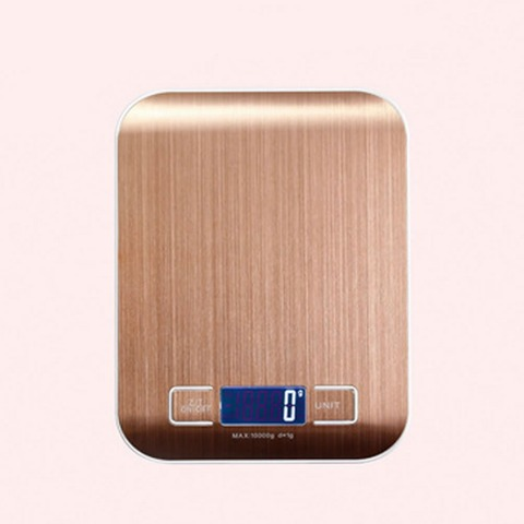 Booyah New Listing 10KG/1g Stainless Steel Portable Digital Kitchen Scales High Precision Rose gold Electronic Weighing Scales Karachi