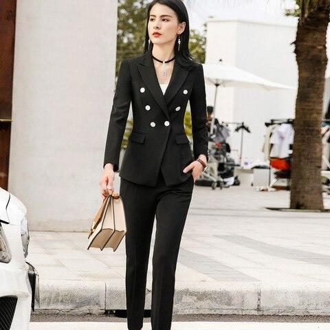 Women Suits Female Pant Suits Office Lady Formal Business Set Uniform Designs Style Work Wear Vest Blazer and Pant 3 Pieces Set Multan