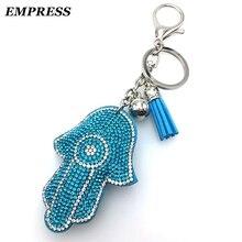 2018 Chaveiros Yuri On Ice Empress Fatima Chain Leather Tassel Holder Metal Keychain Charm Bag Car Pendant Gift Sleutelhanger