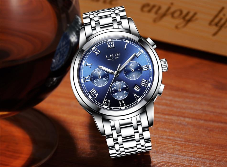 HTB1gZCZfBTH8KJjy0Fiq6ARsXXaT LIGE Men Watches Top Luxury Brand Full Steel Waterproof Sport Quartz Watch Men Fashion Date Clock Chronograph Relogio Masculino