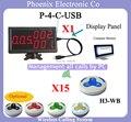 Incluindo Sistemas de chamada sem fio garçom Chamada pager H4-WB X15PCS E Exibir o Menu Receiverr 4-C-USB X1pcs, Na Entrega do Tempo