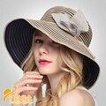 Estilo de moda dom gorra de protección solar sombrero de playa plegable protección Uv plegable de cuatro colores Beach Sun sombreros