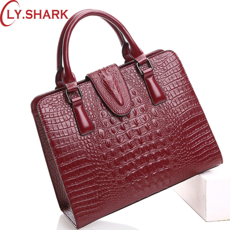 LY.SHARK Women Bag Female Shoulder Bag Handbag Women Famous brands Genuine Leather Bag Ladies Crossbody Messenger Bags Crocodile women bag genuine leather bag brands leather handbag female shoulder crossbody bags cowhide fashion design messenger bags