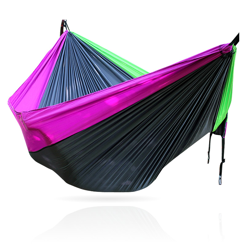 Concave Convex Outdoor Leisure Hammock Parachute Cloth Double Hammock Ultra Lightweight Breathable Camping Adult 210t taffeta outdoor parachute cloth hammock nets double hammock military regulations air tent