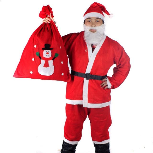 Santa Claus Costume Christmas Clothes Adult clothes Backpack Father  Christmas Suit X'mas Clothes Free - Santa Claus Costume Christmas Clothes Adult Clothes Backpack Father