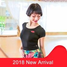 New Latin Dance Costume Tops For Women/Female/Adult Sexy Short Sleeves Ballrooom Cha Cha Samba Practice Dancing Tops DN1183