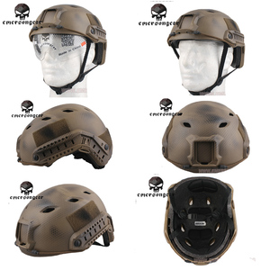 Image 2 - Emerson FAST Helmet With Protective Goggle BJ Type Helmet Military Airsoft Helmet tactical Army Helmet    free shipping