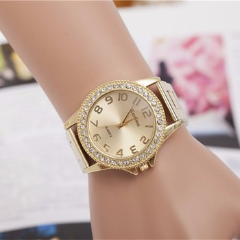 2018 Fashion brand Luxury Gold Ladies Dress Watches Naiset Kello stainless steel Rhinestone Quartz Watch Women relogio feminino miss fox brand luxury womens dress watch full diamond rhinestone stainless steel gold quartz female wristwatch relogios feminino