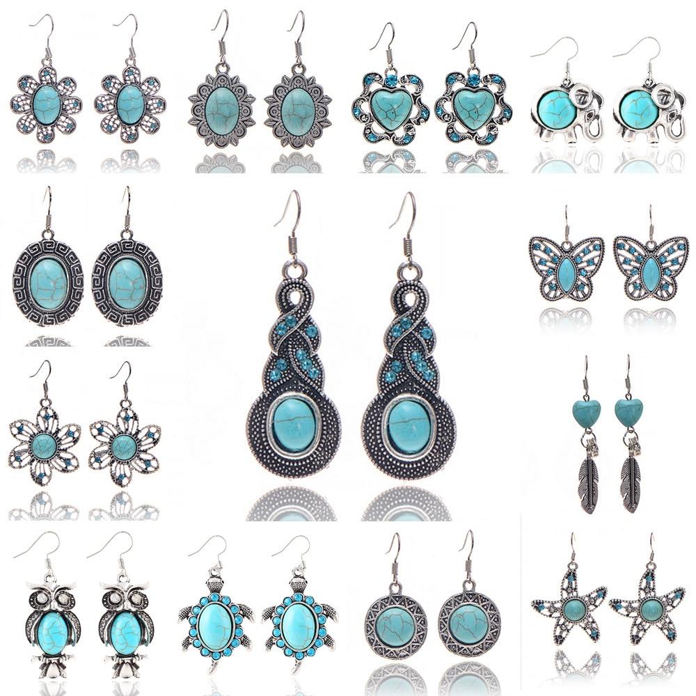 Aliexpress 20 Types Jewelry Turquoise Drop Earring