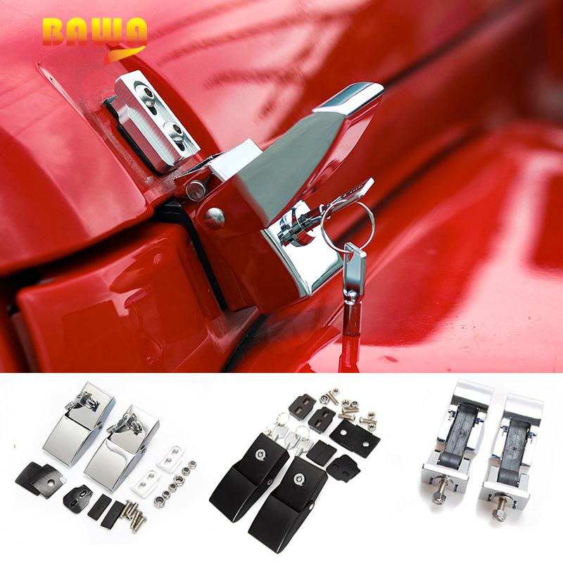 BAWA Lock Hood Set With Key for Jeep Wrangler JK JL 2007-2018 Engine Cover Accessories jk jl