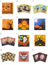 20pcs/pack Halloween Beverage Paper Napkins Pirate Pumpkin Spider Bat Event & Party Tissue Napkins Decoration Serviettes(China)