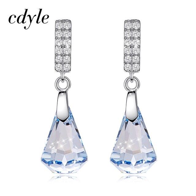 Boucles doreilles en argent Sterling Cdyle 925 ornées de boucles doreilles en cristal bijoux boucles doreilles géométriques